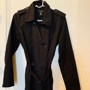 Forever 21 Trench Coat Black size S
